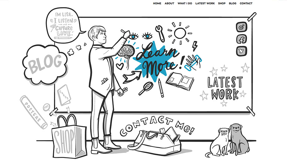 Drawnwell Website Screenshot